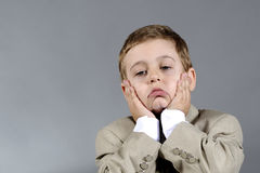 Worried boy Royalty Free Stock Photos
