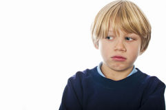 Worried boy Stock Photography