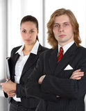 Worried business couple Royalty Free Stock Image