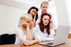 Worried business group Stock Photos