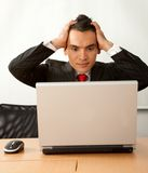 Worried business man Royalty Free Stock Images