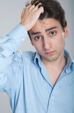 Worried business man Stock Images