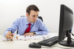 Worried business man Stock Photo