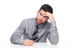 Worried business man Royalty Free Stock Photos