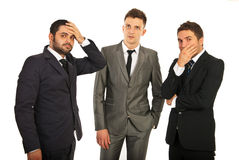 Worried business men Royalty Free Stock Images