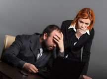 Worried business team Stock Images