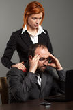 Worried business team Royalty Free Stock Images