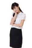 Worried business woman Stock Images