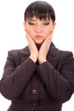 Worried business woman Royalty Free Stock Photography