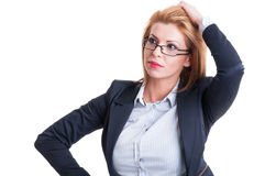 Worried business woman Stock Image