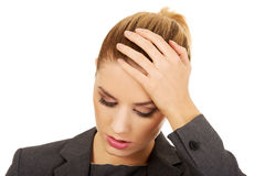 Worried business woman. Royalty Free Stock Images