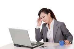 Worried business woman Stock Photo