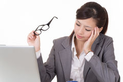 Worried business woman Royalty Free Stock Image