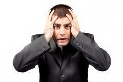 Worried businessman Stock Photo