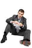 Worried Businessman Stock Photo