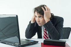 Worried businessman Royalty Free Stock Images