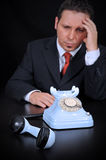 Worried businessman Royalty Free Stock Photos