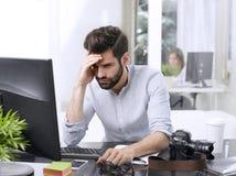 Worried businessman portrait Stock Images