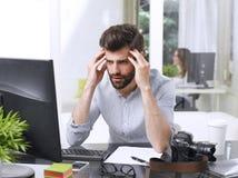 Worried businessman portrait Stock Photo