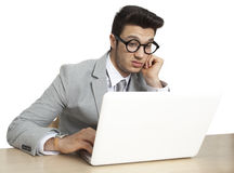 Worried businessman in stress Royalty Free Stock Images