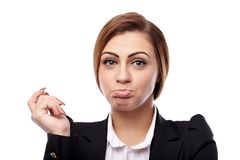 Worried businesswoman Royalty Free Stock Photography