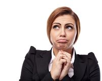Worried businesswoman Royalty Free Stock Photos