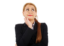 Worried businesswoman Royalty Free Stock Images