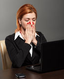 Worried businesswoman Stock Images