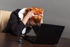 Worried businesswoman Stock Photo