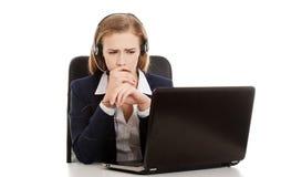 Worried businesswoman Stock Photos