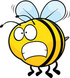 Worried Cartoon Bee. Cartoon illustration of a bee with a worried expression royalty free illustration