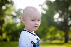 Worried Child Outside Royalty Free Stock Photo