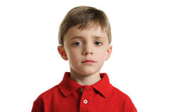 Worried child portrait Royalty Free Stock Photo