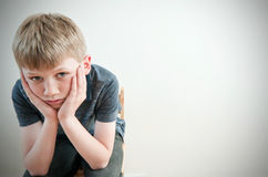 Worried child Royalty Free Stock Images