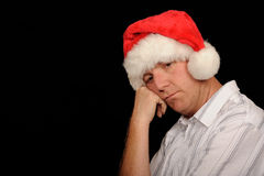 Worried Christmas Man Stock Image