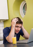 Worried Computer User Stock Image