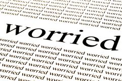 Worried. Conceptual background of worried situation Stock Photos