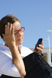 Worried and concerned businesswoman II Stock Photo