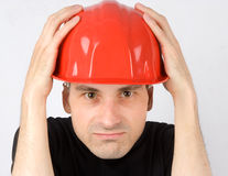 Worried contractor Royalty Free Stock Photo