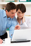 Worried Couple Working From Home Royalty Free Stock Photos