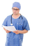 Worried doctor Stock Image