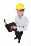 Worried engineer Royalty Free Stock Photos