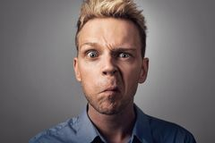 A worried face Stock Image