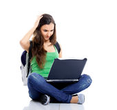 Worried female student Royalty Free Stock Images