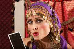 Worried Fortune Teller Royalty Free Stock Image