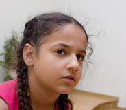 Worried girl Stock Images
