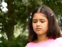 Worried girl Royalty Free Stock Images