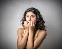 Worried girl Stock Photos