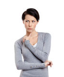 Worried glare Stock Photography
