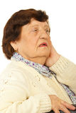Worried grandma Royalty Free Stock Photo